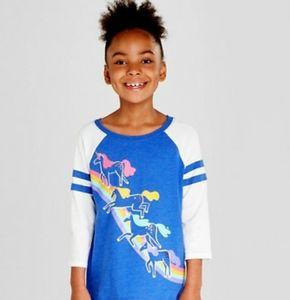 Cat & Jack Unicorn Rainbow kids shirt